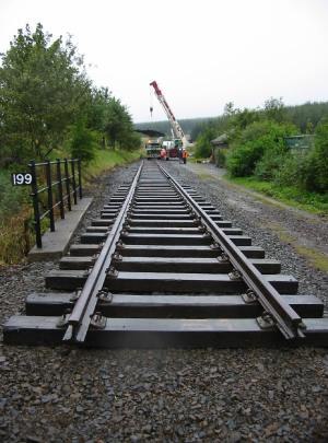 First track to be laid on the Waverley Route since closure